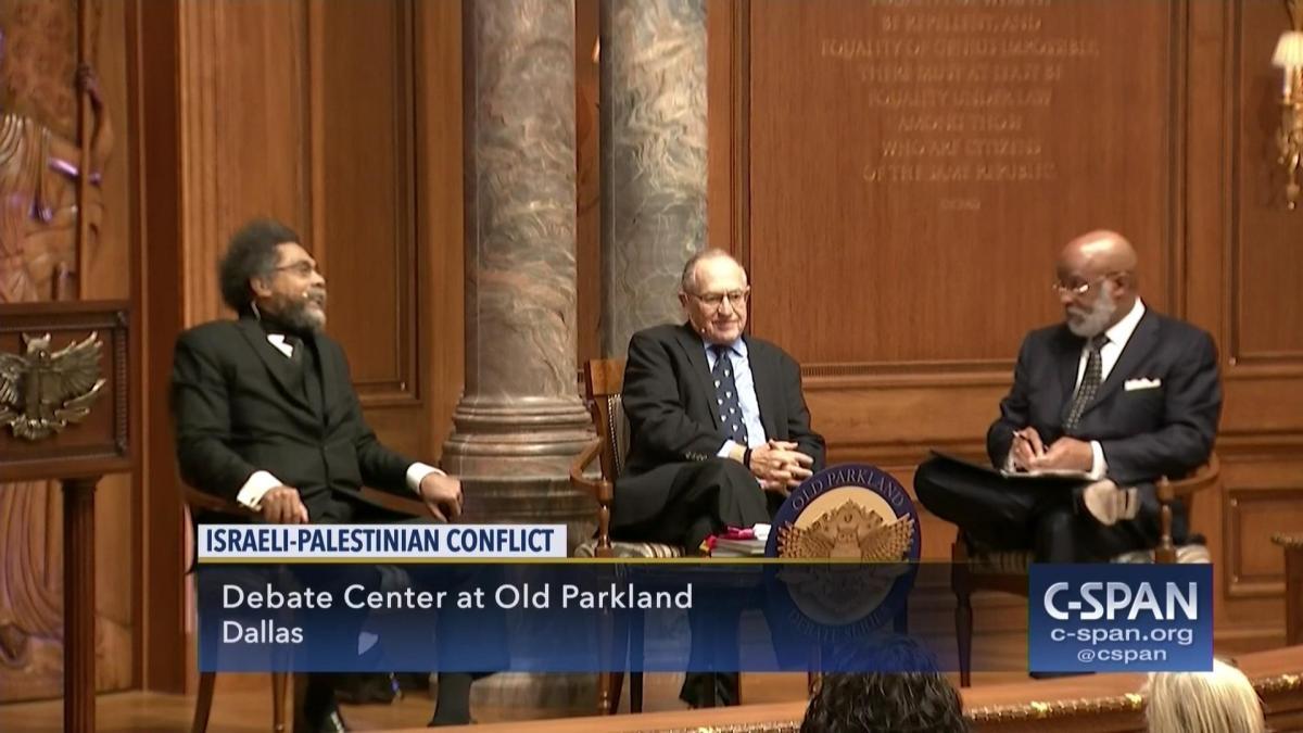 Cornel West & Alan Dershowitz Debate BDS Movement's Call for Boycott Against Israel