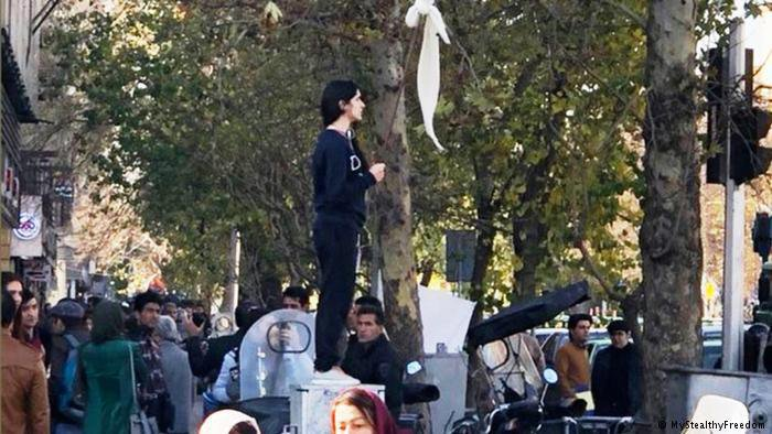 Iconic Photo of Woman Freeing Herself of Hijab Becomes Symbol of Iran Protests