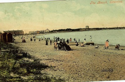 skerries south strand 1907 with message