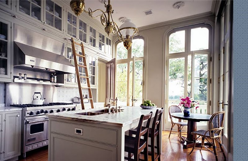 Peter Pennoyer Architect Kitchen Breakfast Area Ladder
