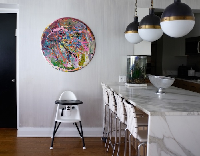 nicole cohen round painting