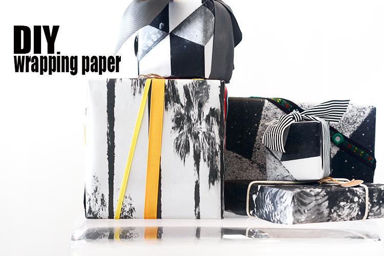 DIY Architect Print Gift Wrap.
