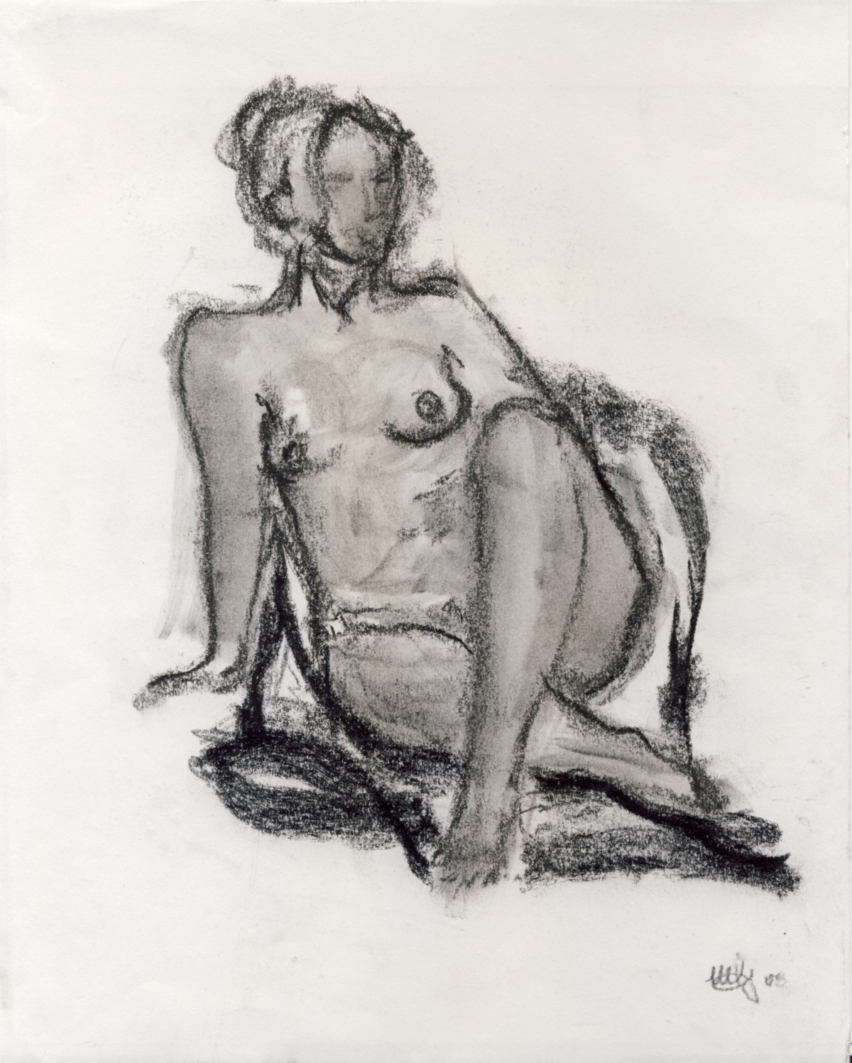 charcoal on canson paper