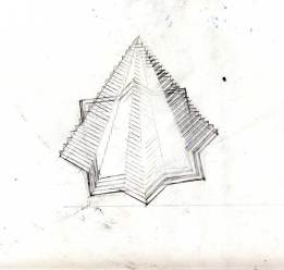 Platonic Solid Exercise. Graphite on Paper. 2007