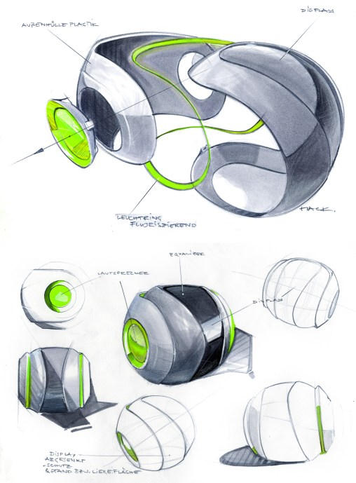 Industrial Design Sketch - Florian Mack - Stereo - 3
