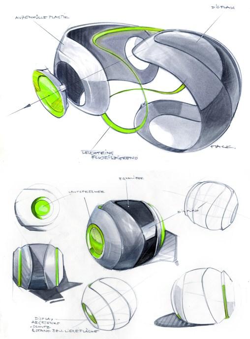 Industrial Design Sketch - Florian Mack - Stereo - 3