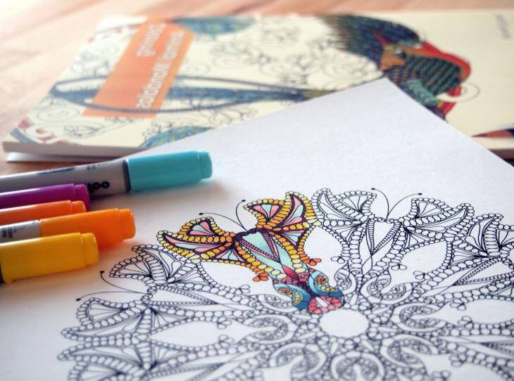 Coloring Mandala picture from Higher Perspective