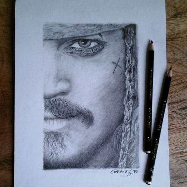 Johnny Depp Captain Jack Sparrow Pencil Drawings