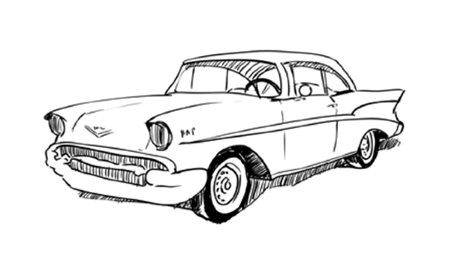 1957 Chevy Turn Signal Wiring Diagram Sketch Coloring Page