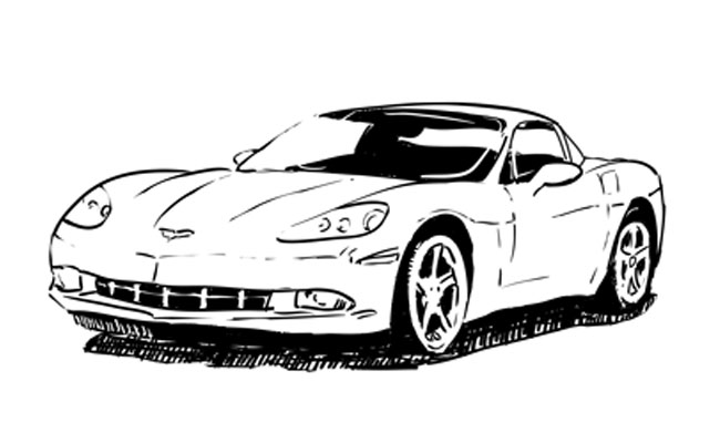 How to Draw a Corvette