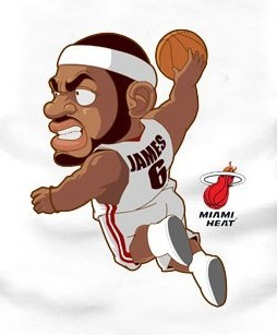 Lebron James Animated Wallpaper Miami Heat Chibi Cartoon Characters The Sketchcard Saloon