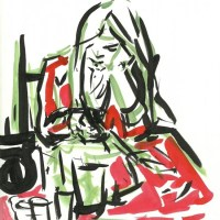 Roksan Kohen's Arresting Sketching Style