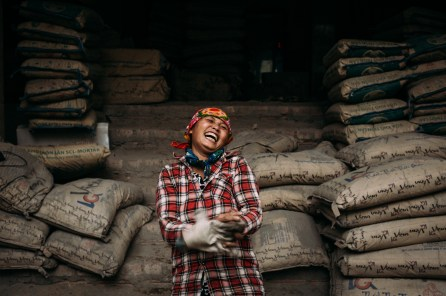 She was working really hard on a construction site carrying all the cement bags with her (mainly female) colleagues. And then – after a short 'warming up' – she gave me this heartening and natural smile which I could look at again and again. (Hanoi, Vietnam)