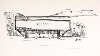 #15 Manoel da Nóbrega Pavilion (now Afro Brasil museum), 1954, by Oscar Niemeyer in São Paulo, Brazil