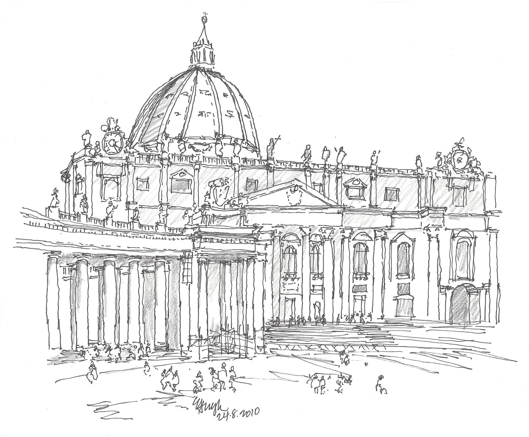 Sketch St Peter S Basilica