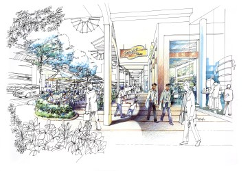 sketches cafe outdoor sketch mall passion within development