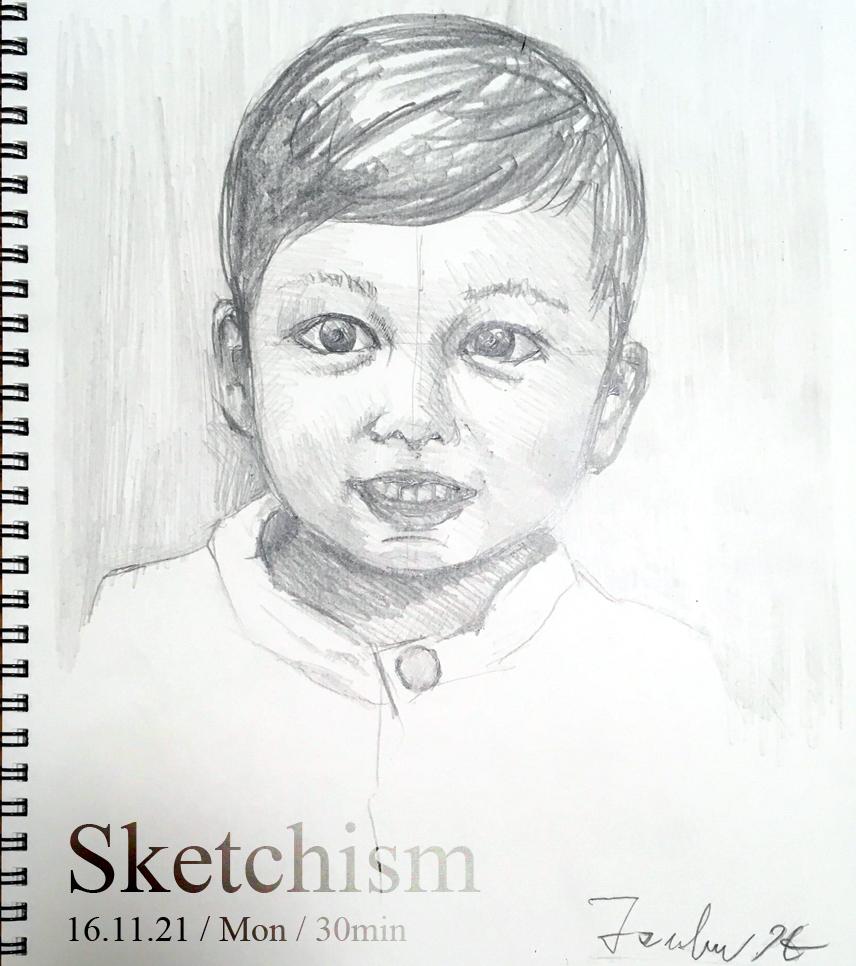息子の肖像画1