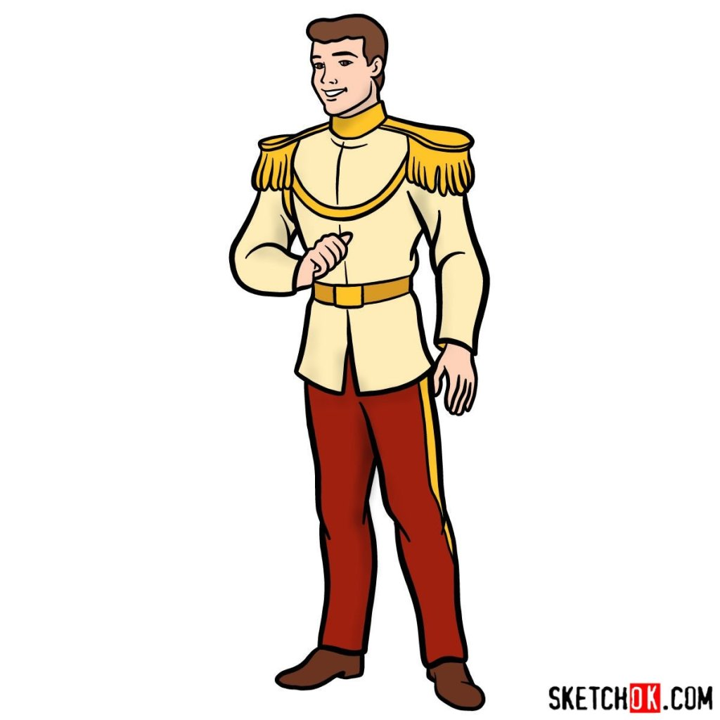 How to draw Prince Charming