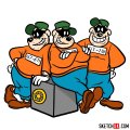 How to draw The Beagle Boys