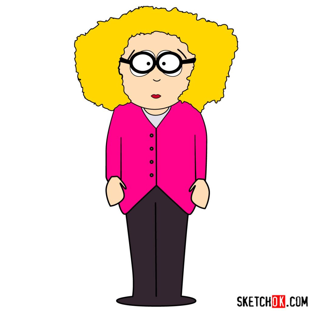 How to draw Principal Victoria from South Park