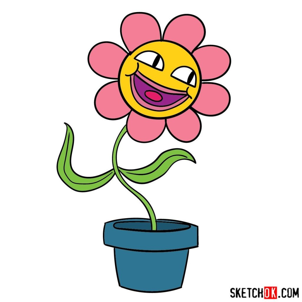 How to draw a flower Leslie from Gumball series
