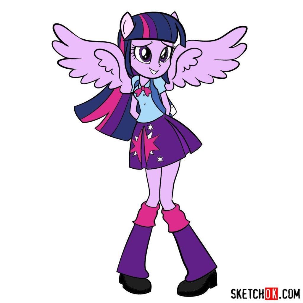 How to draw Twilight Sparkle - Equestria Girls