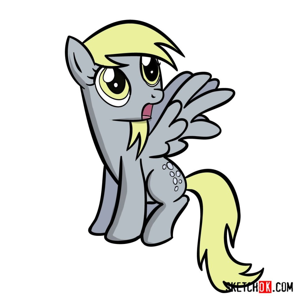 How to draw Derpy Hooves pegasus pony