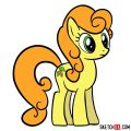 How to draw Carrot Top pony