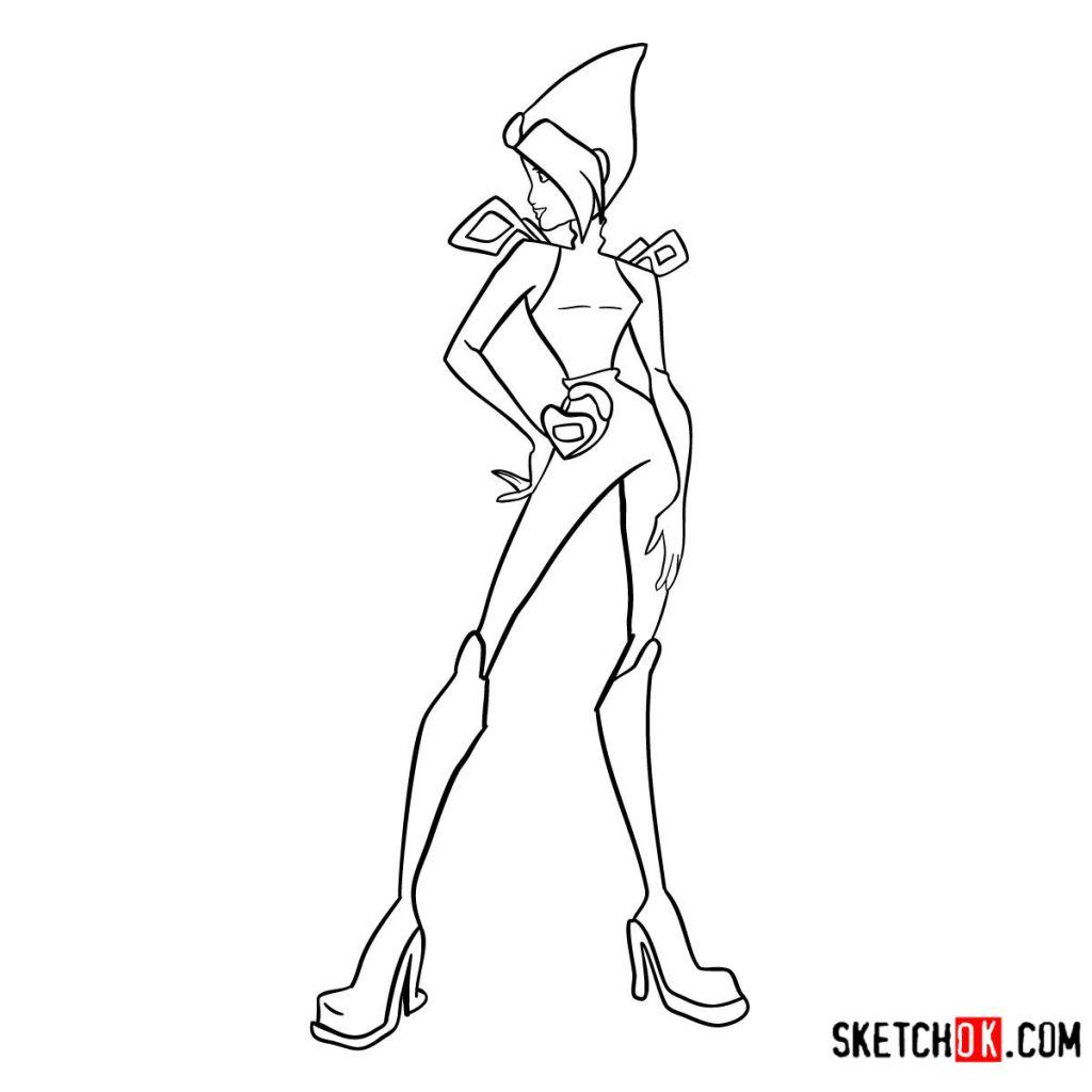 How to draw Tecna Charmix from Winx