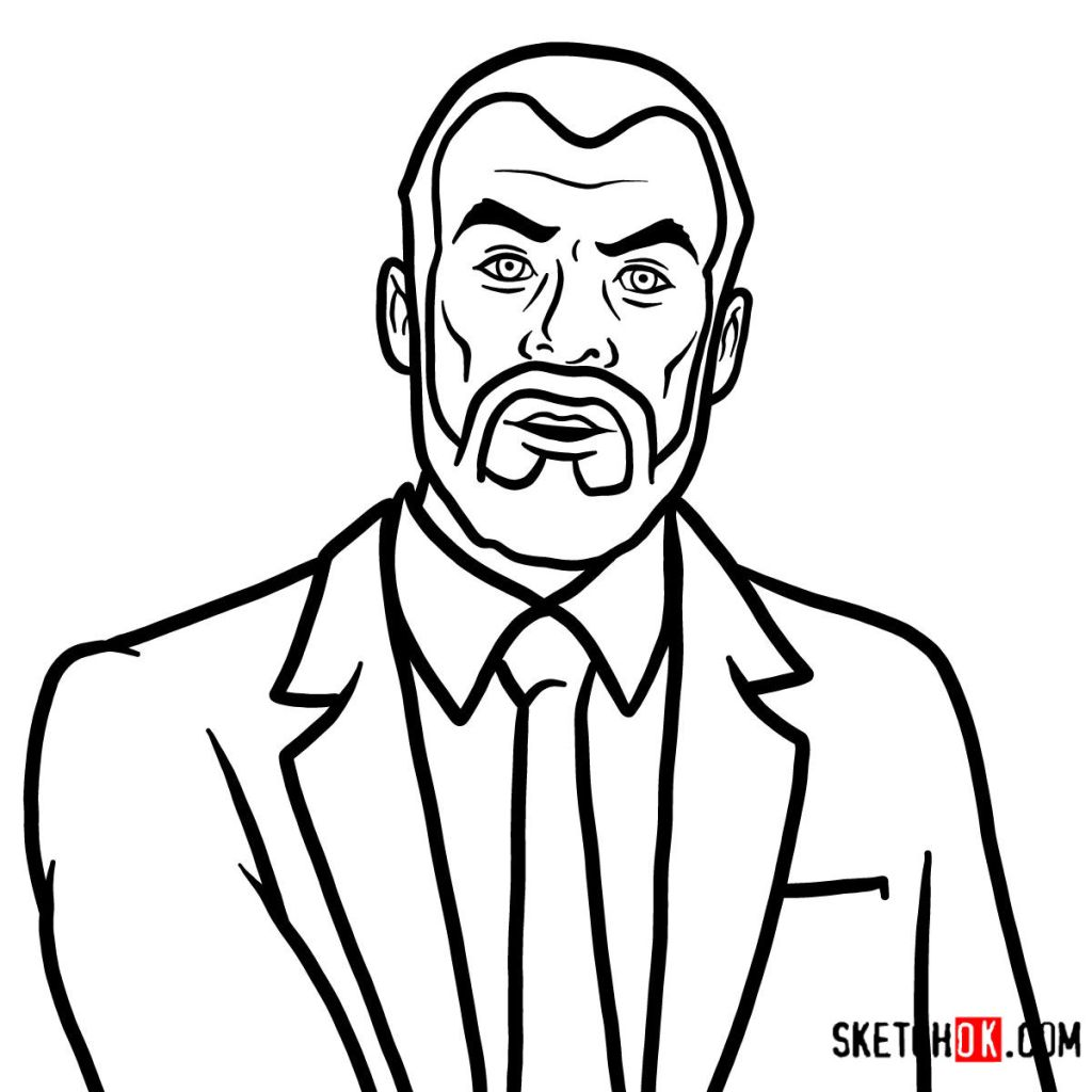 How to draw Dr. Krieger | Archer
