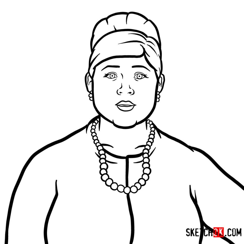 How to draw Pam Poovey | Archer
