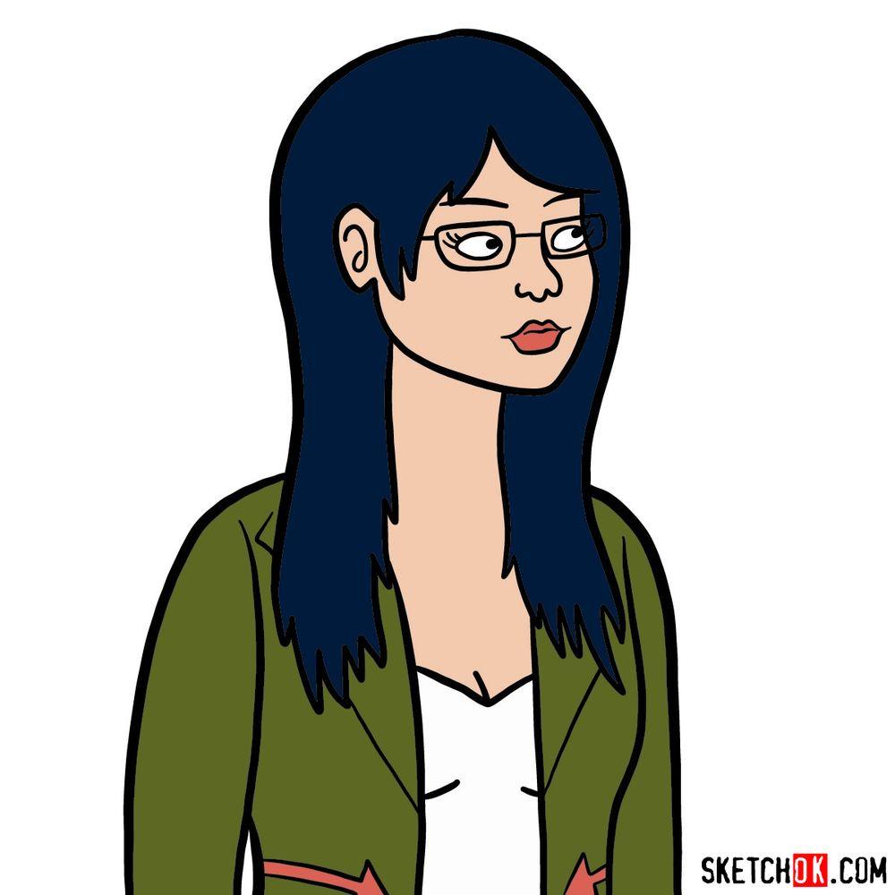 How to draw Diane Nguyen's portrait | BoJack Horseman