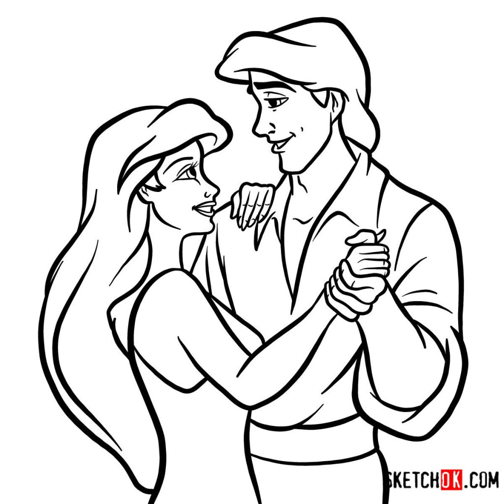 How to draw Eric and Ariel together