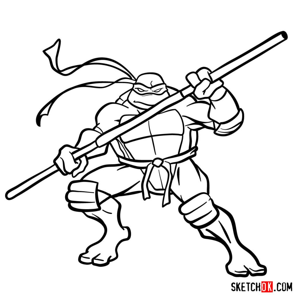 How to draw Donatello ninja turtle