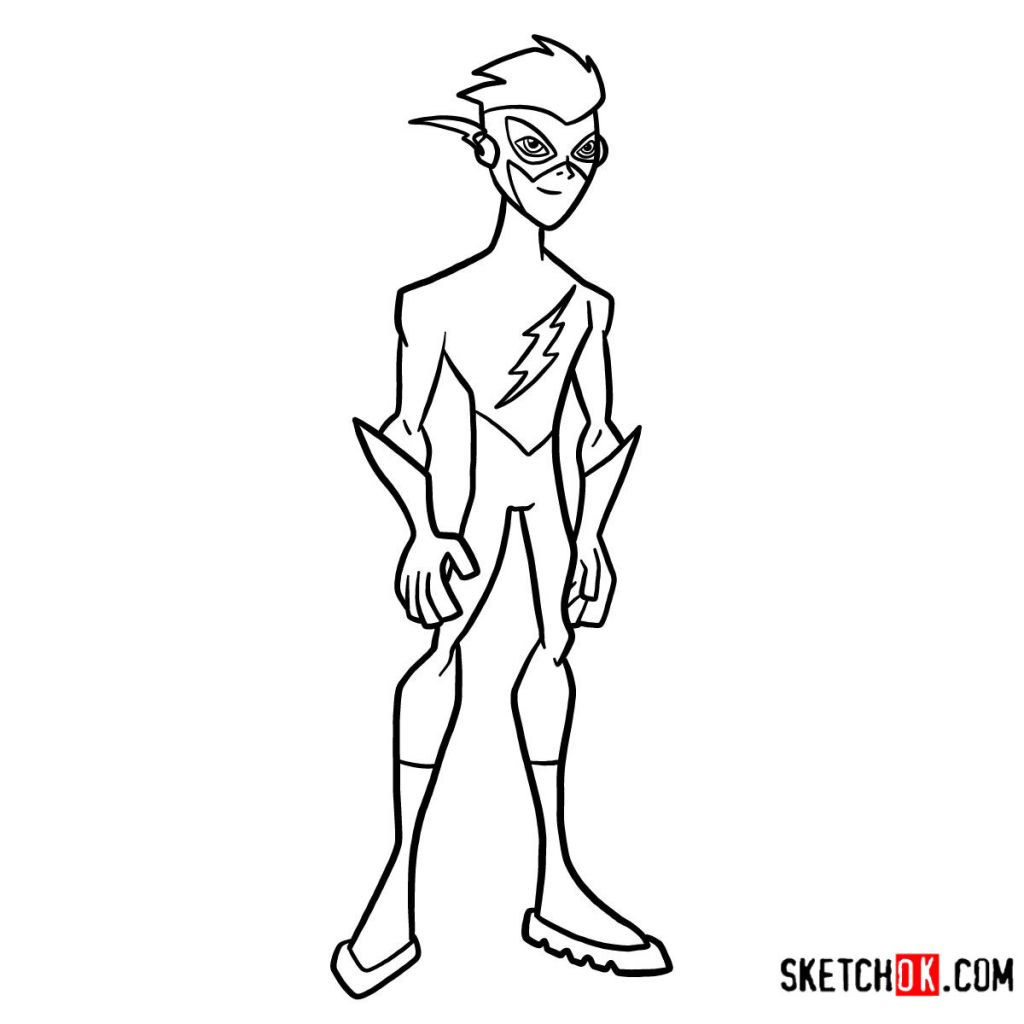 How to draw Kid Flash | Teen Titans