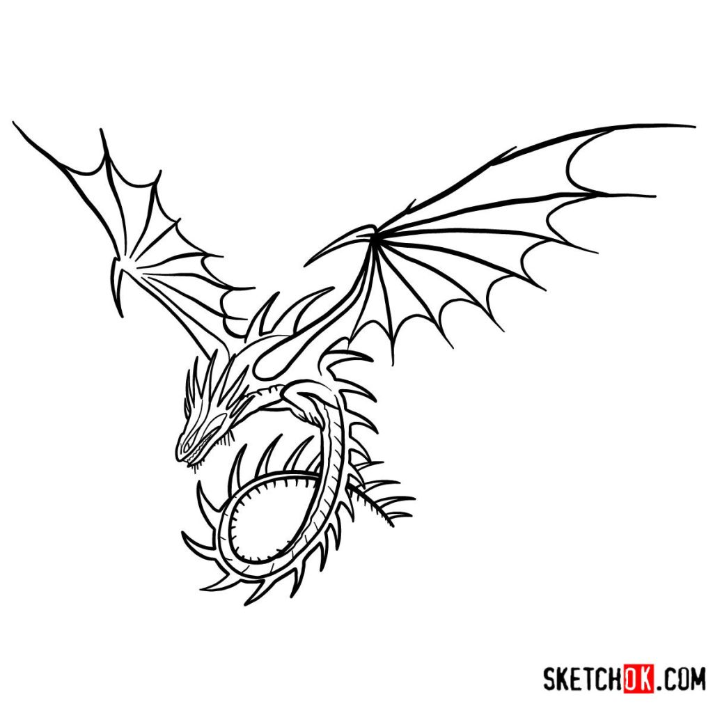 How to draw The Skrill Dragon
