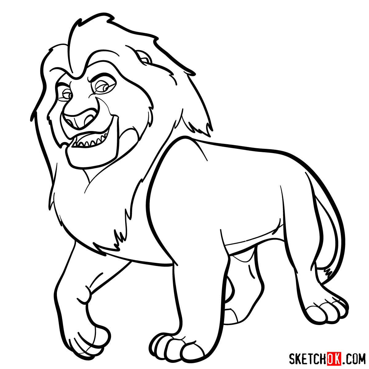 How To Draw Mufasa Lion King