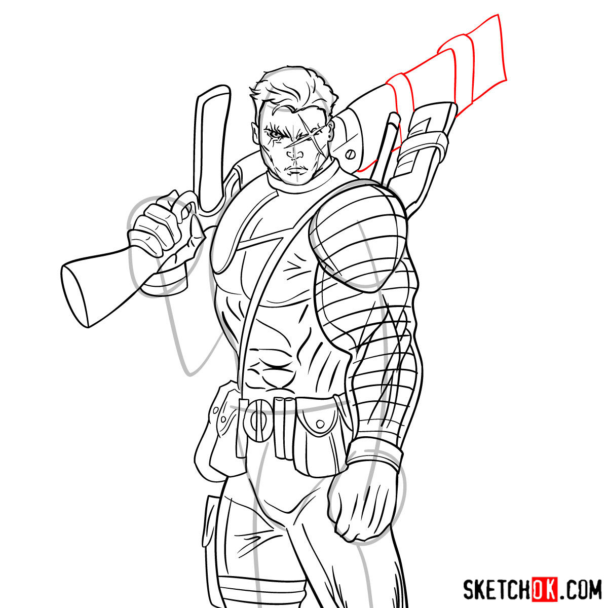 How To Draw Cable With A Gun