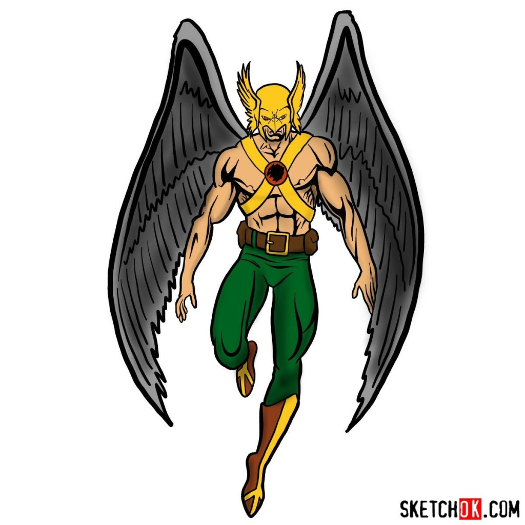 How to draw Hawkman from DC Comics