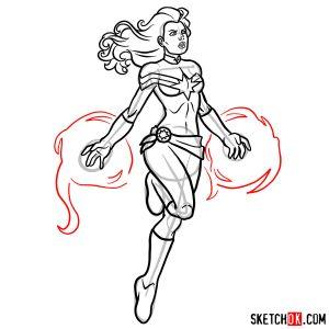 marvel captain draw step danvers carol drawings superheroes drawing comics sketchok clipartmag