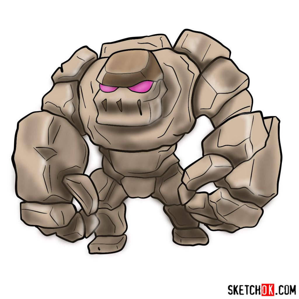 How to draw Golem (Golemite) from Clash of Clans