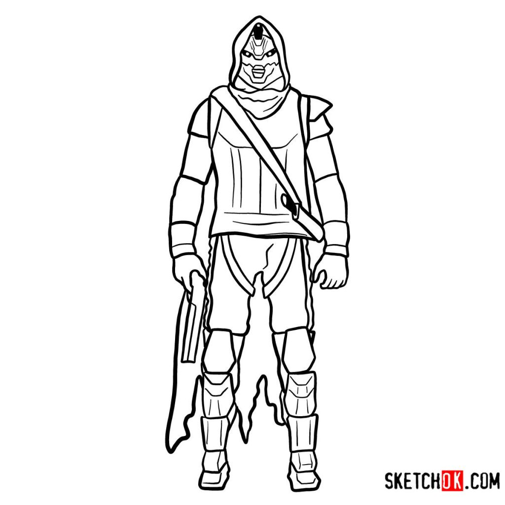 How to draw Cayde-6 | Destiny