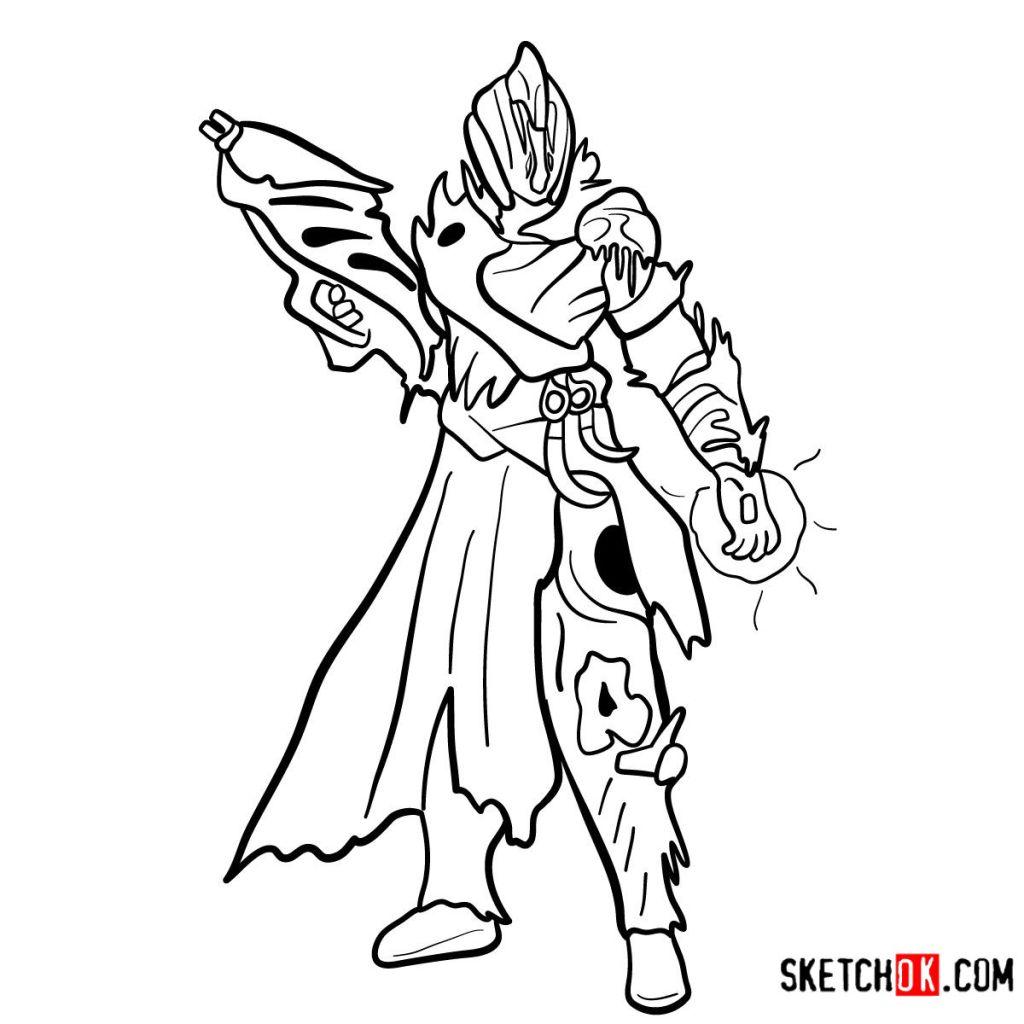How to draw the Warlock | Destiny