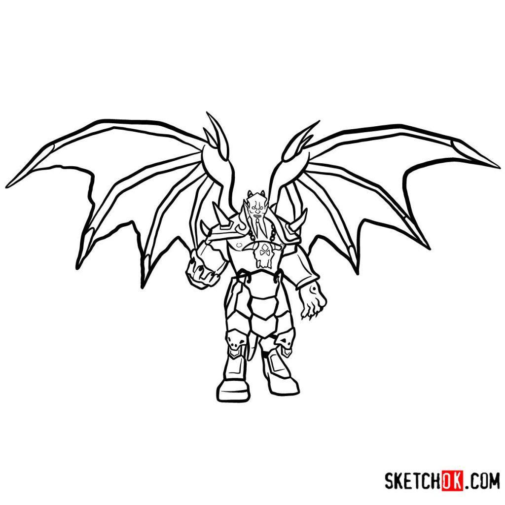 How to draw Kil'jaeden | World of Warcraft