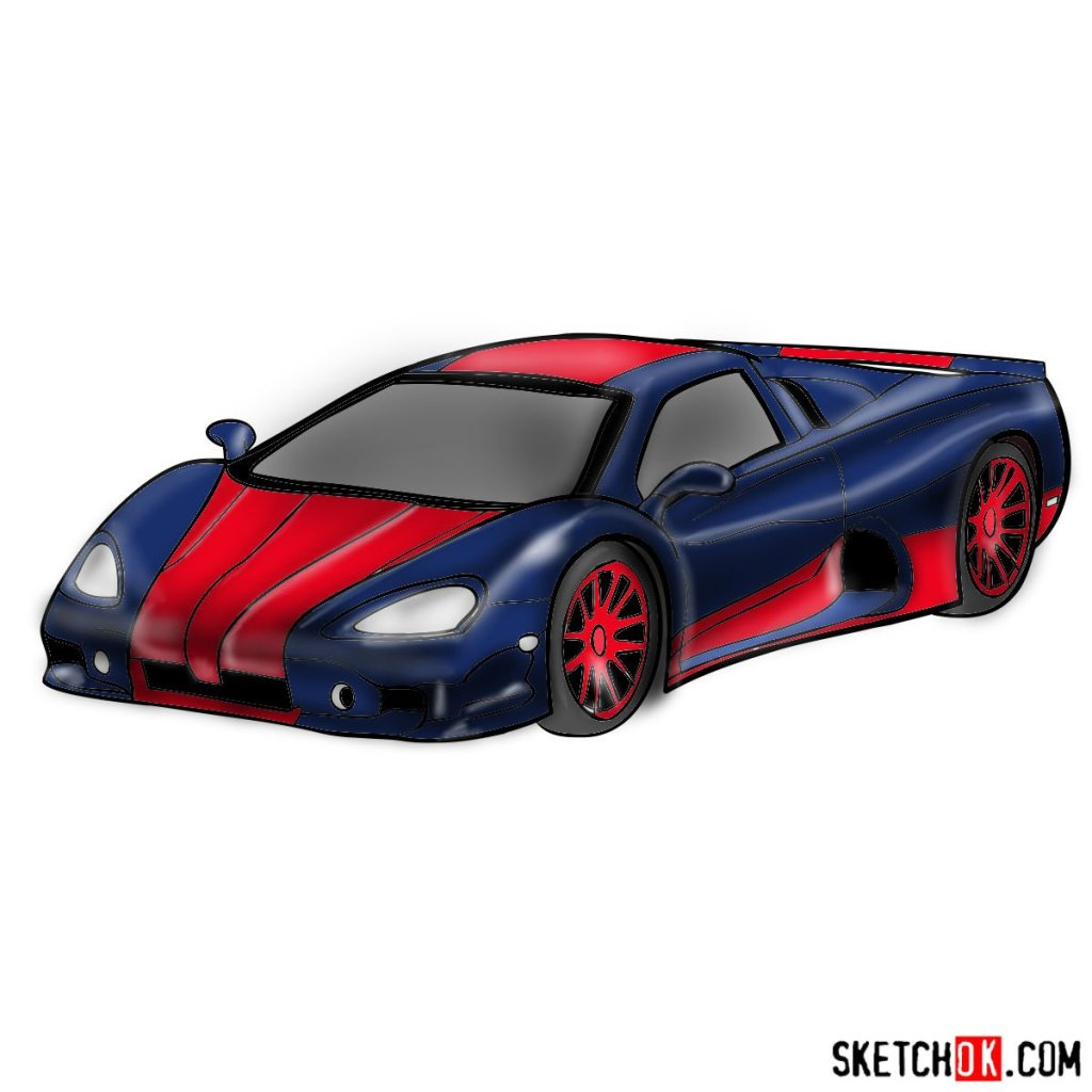 How to draw SSC Ultimate Aero TT 2006