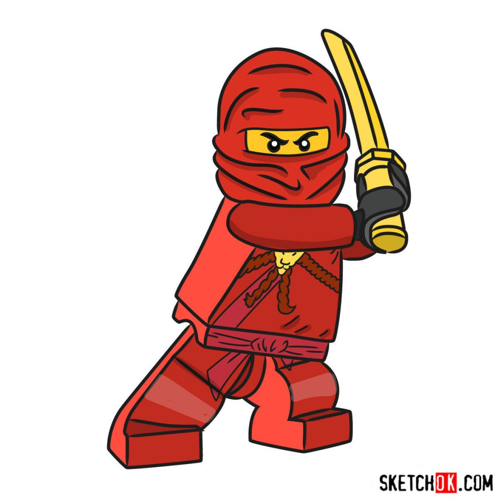 How to draw Kai NinjaGO