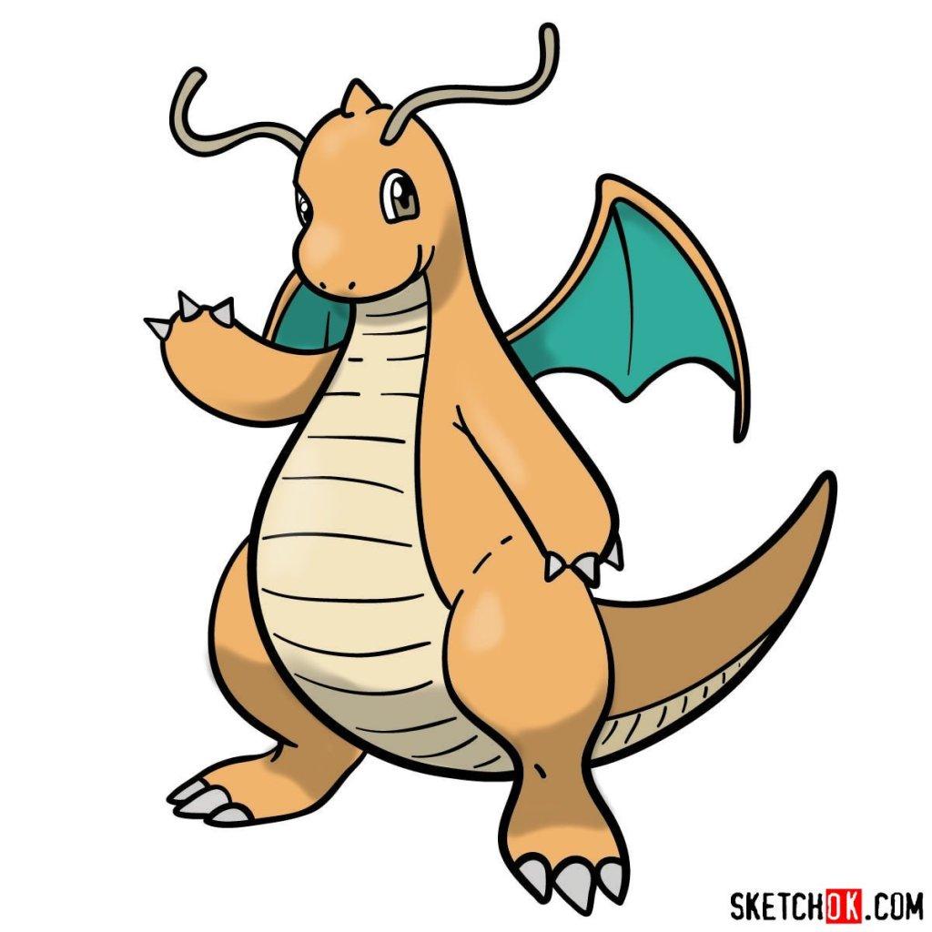 How to draw Dragonite Pokemon