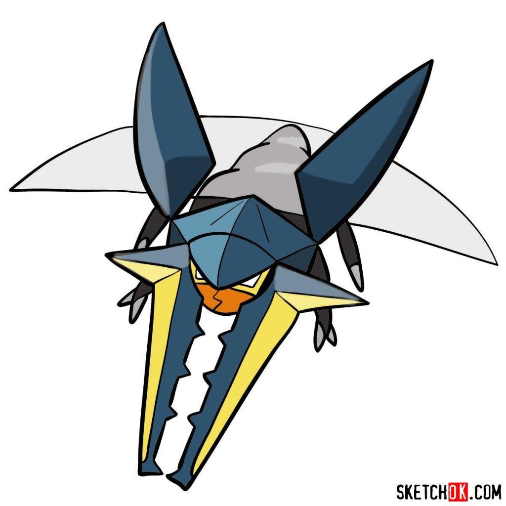 How to draw Vikavolt Pokemon
