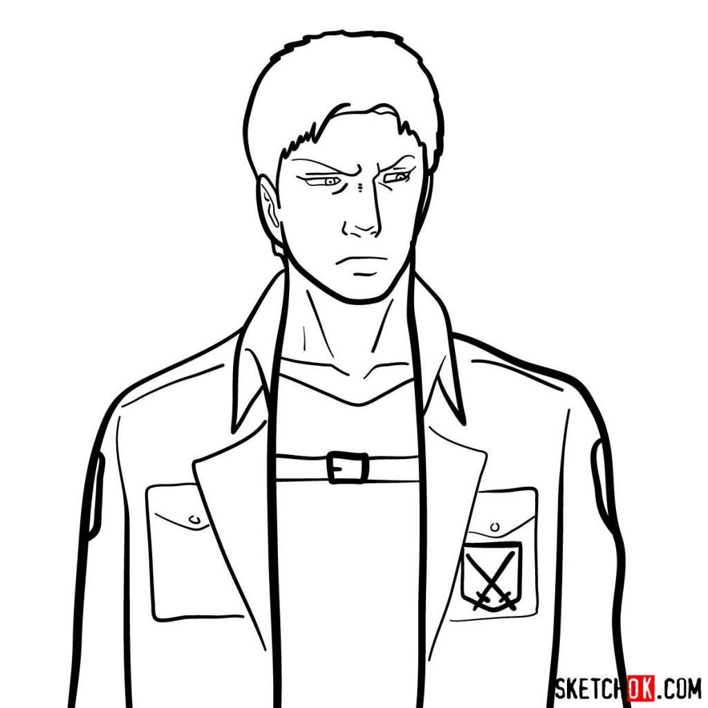 How to draw Reiner Braun | Attack on Titan