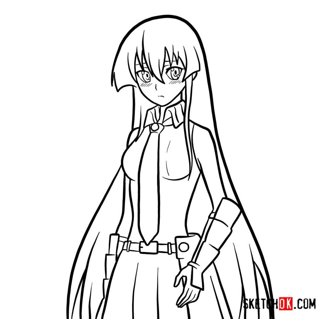 How to draw Akame | Akame Ga Kill
